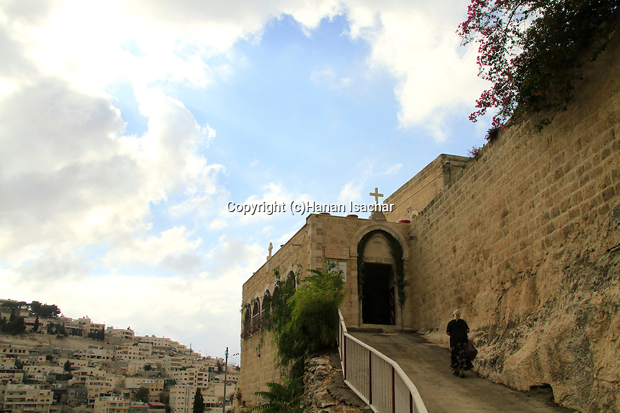 Israel, Jerusalem, Greek Orthodox St. Onuphrius Monastery in Hinnom Valley