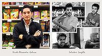 IL VERO E IL FALSO:.Ritratti di veri soci Coop e degli attori che interpretano la sit-Com Casa Coop.Salvatore Langella.