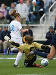 3 December 2006: North Carolina's Heather O'Reilly (20) avoids a tackle by Notre Dame's Lauren Karas (6) before scoring the game's first goal in the 18th minute. The University of North Carolina Tarheels played the University of Notre Dame Fighting Irish at SAS Stadium in Cary, North Carolina in the NCAA Division I Women's College Cup championship game.