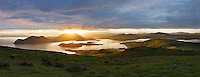 Mystical Sunrise over Valentia Island and Cahersiveen, County Kerry, Ireland / vl168