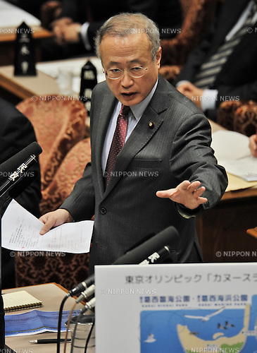 February 5, 2014, Tokyo, Japan - Member of the House of Councilors Yoshifu Arita attends an upper house budget committee session at the parliament in Tokyo, Japan on February 5, 2014. (Photo by AFLO)