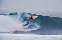 1995 Quiksilver Pro, Grajagan, East Java. Indonesia <br /> The 1995 Quisksilver Pro  held in the waves of  Grajagan, better known as G-Land, on the coastline of a nature reserve on the southern-most tip of east Java was won by Kelly Slater (USA) with fellow Quiksilver surfer Jeff Booth (USA) in second place.  It was the first Quiksilver Pro, G-Land, that set the true concept of the ASP &lsquo;Dream Tour&rsquo; in motion. The late 80s and early 90s saw a growth in events based close to metropolitan areas, but the Quiksilver Pro, G-Land took a step away from that. Its emphasis was on quality waves, rather than quality crowds. Surfer Magazine calls Quiksilver's G-Land Java Pro &ldquo;The greatest ASP contest ever . . .&rdquo;. Surfing Magazine says, &ldquo;More than a contest, more than a surf trip, the Quiksilver Pro redefined professional surfing . . .&rdquo; Witness a select group of the worlds greatest surfers in some of the best contest waves ever ridden.&quot; Photo: joliphotos.com