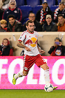 Jonny Steele (22) of the New York Red Bulls. The New York Red Bulls defeated the Chicago Fire 5-2 during a Major League Soccer (MLS) match at Red Bull Arena in Harrison, NJ, on October 27, 2013.