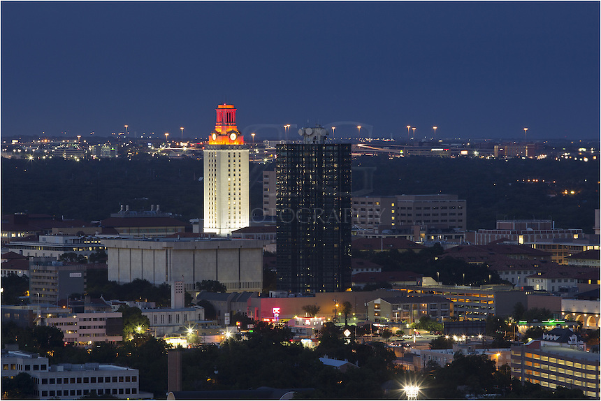 Texas beat Oklahoma on October 12, 2013, by a score of 36-20.<br /> Thus, the tower on the University of Texas campus is lit orange. Lately, this has been a rare occurance.