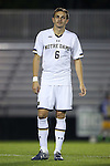 17 October 2014: Notre Dame's Max Lachowecki. The Duke University Blue Devils hosted the Notre Dame University Fighting Irish at Koskinen Stadium in Durham, North Carolina in a 2014 NCAA Division I Men's Soccer match. Notre Dame won the game 4-1.