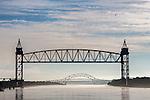 Bridges over the Cape Cod Canal in Bourne, Cape Cod, Massachusetts, USA