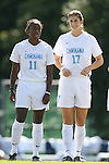 North Carolina's Robyn Gayle (11) and Yael Averbuch (17) on Sunday, October 15th, 2006 at Fetzer Field in Chapel Hill, North Carolina. The University of North Carolina Tarheels defeated the Virginia Tech Hokies 1-0 in an Atlantic Coast Conference NCAA Division I Women's Soccer game.