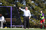 21 October 2012: Penn State head coach Bob Warming. The Northwestern University Wildcats played the Penn State University Nittany Lions at Lakeside Field in Evanston, Illinois in a 2012 NCAA Division I Men's Soccer game. Penn State won the game 1-0 in golden goal overtime.