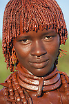 Hamer tribeswoman, Omo River Valley, Ethiopia