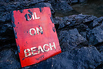 Oil on beaches following the 72,000 tonne oil spill on the Pembrokeshire coast from the Sea Empress oil tanker<br /> 1996