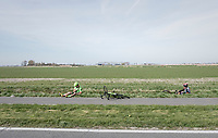 Filippo Ganna(ITA/UAE-Emirates) &amp; Wouter Wippert (NED/Cannondale-Drapac) crashed<br /> <br /> 79th Gent-Wevelgem 2017 (1.UWT)<br /> 1day race: Deinze &rsaquo; Wevelgem - BEL (249km)