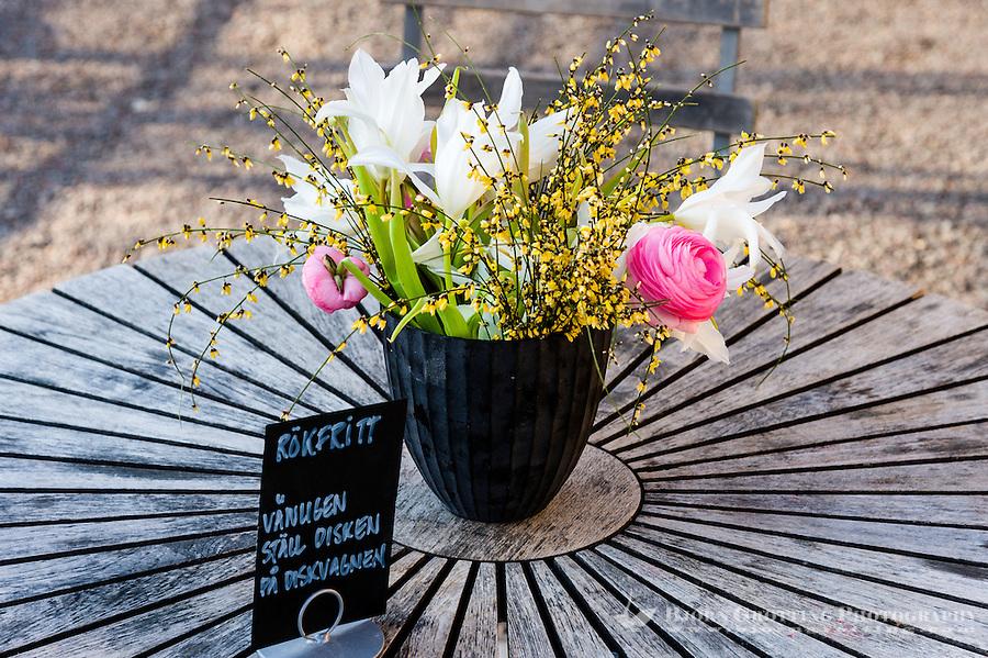 Sweden, Stockholm. Rosendals Trädgård, public garden on Djurgärden.