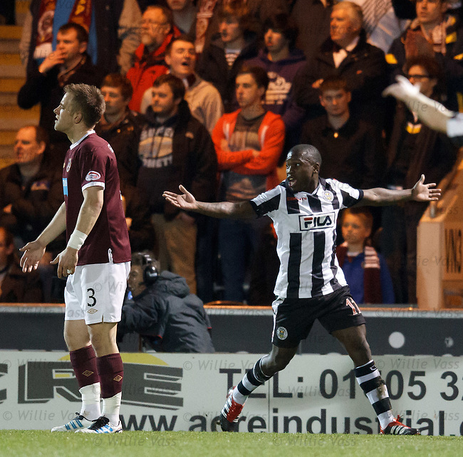 Nigel Hasselbaink can't believe his goal has been chalked off and play pulled back for a penalty kick