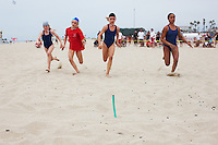 U.S. National Lifeguard Championships. Huntington Beach, California...46. Beach Flag Race, Huntington Beach, California.