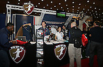 18 January 2008: The Women's Professional Soccer exhibit. The 2008 National Soccer Coaches Association of America's annual convention was held at the Convention Center in Baltimore, Maryland.