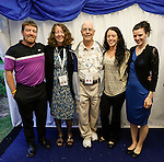 Joe, Lucille, John, Julie Ann, and Allison in the tent at the Caulfield home  in Granlahan, County Roscommon, Ireland on Tuesday, June 25th 2013. (Photo by Brian Garfinkel)