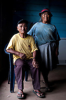 Andres Parizaca and her wife Juana Aliaga Luque, photographed at her home in Santa Rosa, in the Madre de Dios region of the Peruvian Amazon.
