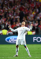 FUSSBALL  CHAMPIONS LEAGUE  FINALE  SAISON 2013/2014  24.05.2013 Real Madrid - Atletico Madrid SCHLUSSJUBEL Cristiano Ronaldo (Real Madrid)