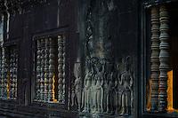 First morning light at the corridors at Angkor Wat,Siem Reap