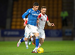St Johnstone v Ross County...11.08.15...SPFL..McDiarmid Park, Perth.<br /> Michael O'Halloran and Craig Curran<br /> Picture by Graeme Hart.<br /> Copyright Perthshire Picture Agency<br /> Tel: 01738 623350  Mobile: 07990 594431