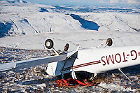 Wreckage of small plane crashed on Friday Nov, 26 2010 near Pen Y Fan, Brecon Beacons national park, Wales. (photo Sun 28/11/2010)