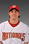 14 March 2008: ..Portrait of Patrick Nichols, Washington Nationals Minor League player at Spring Training Camp 2008..Mandatory Photo Credit: Ed Wolfstein Photo