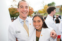 Ryan Nichols, left, Catherine LaPenta. Class of 2017 White Coat Ceremony.