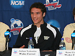13 December 2007: Wake Forest's Julian Valentin. The Wake Forest University Demon Deacons held a press conference at SAS Stadium in Cary, North Carolina one day before playing in a NCAA Division I Mens College Cup semifinal game.