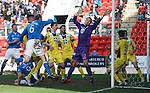 St Johnstone v St Mirren....21.03.15<br /> Steven Anderson scores saints second goal<br /> Picture by Graeme Hart.<br /> Copyright Perthshire Picture Agency<br /> Tel: 01738 623350  Mobile: 07990 594431