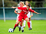 14 October 2010: University of Hartford Hawks midfielder Julianne Oberholtzer, a Sophomore from Holland, PA, in action against the University of Vermont Catamounts at Centennial Field in Burlington, Vermont. The Hawks defeated the Lady Cats 6-2 in America East play. Mandatory Credit: Ed Wolfstein Photo