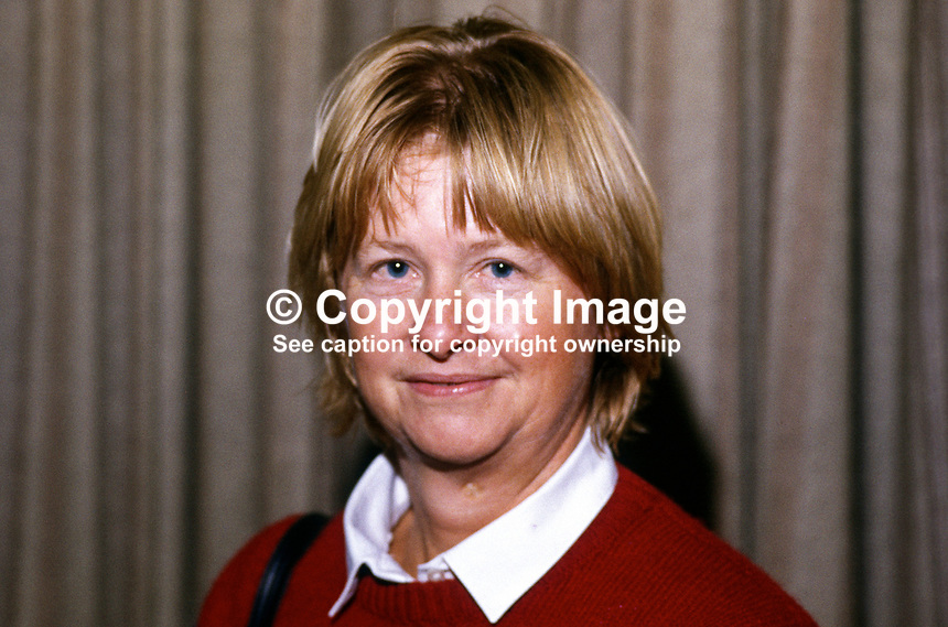 Anne Sofer, prominent member, SDP, Social Democratic Party, UK, 19840109AS1..Copyright Image from Victor Patterson, 54 Dorchester Park, Belfast, UK, BT9 6RJ..Tel: +44 28 9066 1296.Mob: +44 7802 353836.Voicemail +44 20 8816 7153.Skype: victorpattersonbelfast.Email: victorpatterson@me.com.Email: victorpatterson@ireland.com (back-up)..IMPORTANT: If you wish to use this image or any other of my images please go to www.victorpatterson.com and click on the Terms & Conditions. Then contact me by email or phone with the reference number(s) of the image(s) concerned.