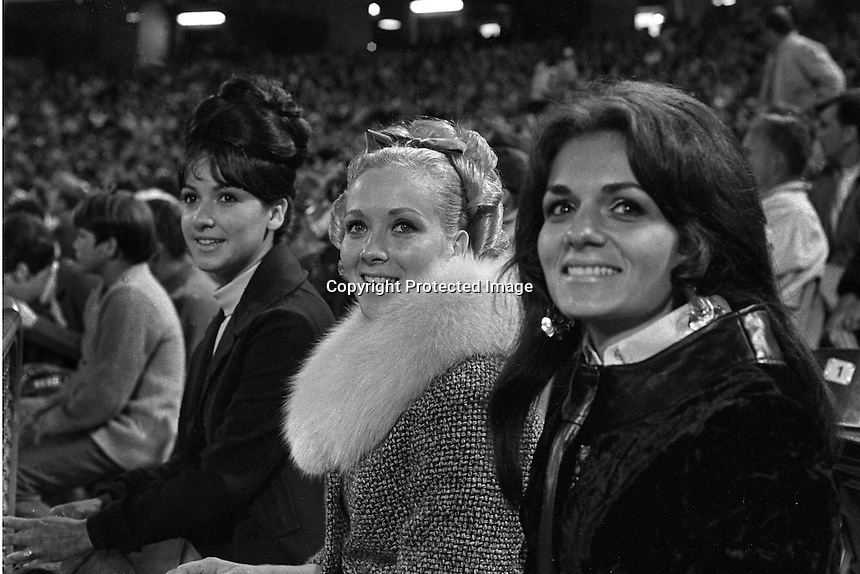 Oakland Athletics wives in the stands during the 1972 World Series:L-RJennie Campos, wife of Reggie Jackson,  Mrs. John Donaldson, and Sandy Bando (wife of Sal) (1969 photo by Ron Riesterer)