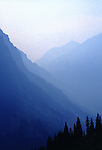Trees and mountains in Glacier National Park Montana