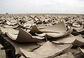 Nieuwebildtzijl, 11 april 2007. Noorderleeg/Noarderleech (Noord-Friesland Buitendijks / Noard-Fryslân Bûtendyks). Buitendijks kweldergebied langs de Waddenzee.