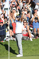 February 21, 2016: Adam Scott during the final round of the Northern Trust Open, Pacific Palisades,CA. Michael Zito/ESW/CSM