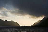 Raftsundet straight between Lofoten and Vesterålen islands, Norway