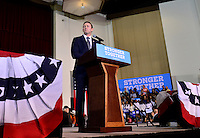 COCONUT CREEK, FL - OCTOBER 25: U.S. candidate Rep. Patrick Murphy (D-PA) speaks at a rally with Democratic presidential nominee former Secretary of State Hillary Clinton to highlight the start of in-person early voting at Omni Auditorium, Broward College North Campus on October 25, 2016 in Coconut Creek, Florida. With two weeks to go until Election Day, Clinton will urge Florida voters to take advantage of in-person early voting, which begins in many Florida counties. Credit: MPI10 / MediaPunch