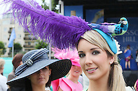 5/8/2010.Blossom Hill Ladies Day. Jane O Donnell from Dublin is pictured at the Blossom Hill Ladies Day at the Fáilte Ireland Dublin Horse Show at RDS. Picture James Horan/Collins Photos
