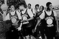 At risk youth basketball team, Southeast San Diego. 1992