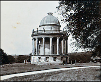 BNPS.co.uk (01202 558833)<br /> Pic: Lawrences/BNPS<br /> <br /> The Temple of Diana in the gardens of Highclere.<br /> <br /> An intimate set of portraits of the real Downton Abbey which include the visit of the future king have been unearthed after more than 120 years.<br /> <br /> The magnificent 19th century Highclere Castle, in Hampshire, was home to George Herbert, fifth Earl of Carnarvon, and his wife Almina Herbert in the late 19th and early 20th century.<br /> <br /> The album, which is up for auction, contains 44 large mounted photographs of the house, staff and estate of Highclere in 1895.<br /> <br /> Included are images of Carnarvon with his wife Almina, various shooting parties including one involving Prince Edward (the future Edward VII) and the house staff.
