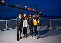 Chester, PA - April 8, 2016: The USWNT watched a Major League Soccer (MLS) match between the Philadelphia Union and Orlando City SC at Talen Energy Stadium