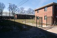 1994 February..Assisted Housing..Tidewater Gardens (6-2 & 6-9)..SECURITY.NEW FENCING ON WALKE STREET...NEG#.NRHA#..