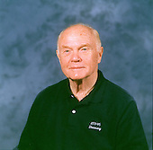 United States Senator John H. Glenn Jr. (Democrat of Ohio) poses for an informal portrait at the Johnson Space Center (JSC) on the 36th anniversary of his Earth-orbital flight of February 20, 1962. Glenn will begin training soon to fly aboard the Space Shuttle Discovery later in 1998..Credit: NASA via CNP