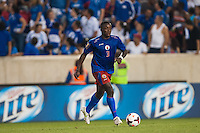 Haiti defender Mechak Jerome (3) during a CONCACAF Gold Cup group B match at Red Bull Arena in Harrison, NJ, on July 8, 2013.