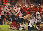Lafayette High's Cortez Coleman (45) makes a tackle vs. Lewisburg in Homecoming football action in Oxford, Miss. on Friday, September 30, 2011. Lafayette High won 42-0 for the team's 23rd straight win.