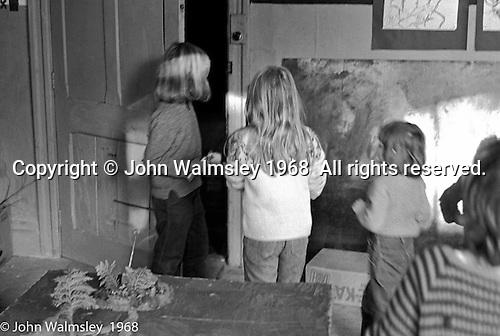 Art room, Summerhill school, Leiston, Suffolk, UK. 1968.