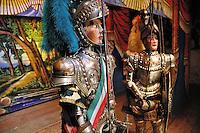 Sicilian puppets theatre by Mimmo Cuticchio..Teatrino dell'opera dei pupi di Mimmo Cuticchio