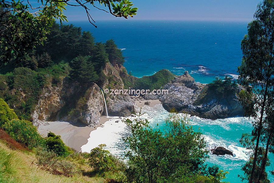 Julia Pfeiffer Burns, State Park, McWay Falls, Big Sur, California ,CGI Backgrounds,