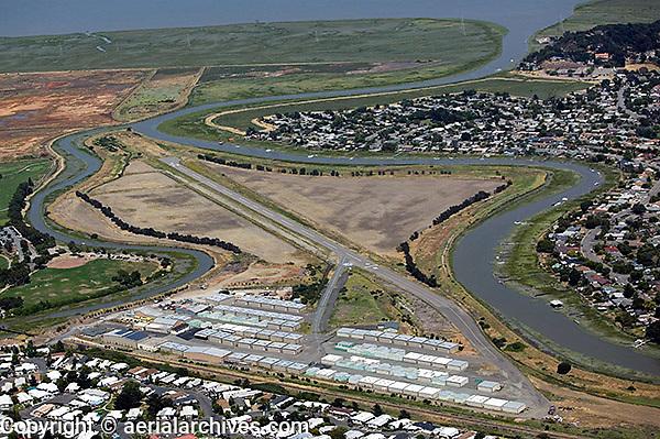 aerial photograph, Smith Ranch airport, San Rafael, Marin County, California
