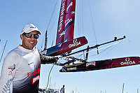PORTUGAL, Cascais. 7th August 2011. America's Cup World Series. Day 2. Ray Davies , EMIRATES TEAM NEW ZEALAND.